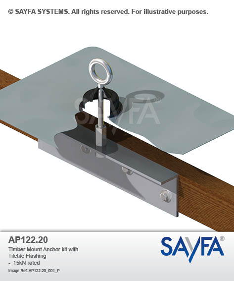 Timber Mount Anchor kit with Tiletite Flashing