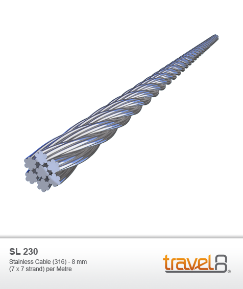 Stainless Cable (316) - 8 mm